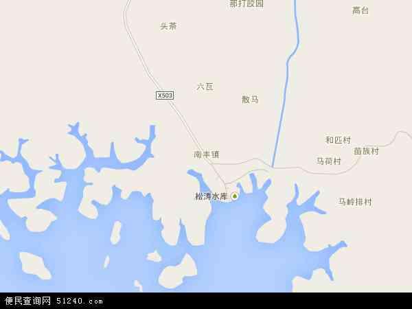 中国海南省省直辖县级行政区划儋州市南丰镇地图