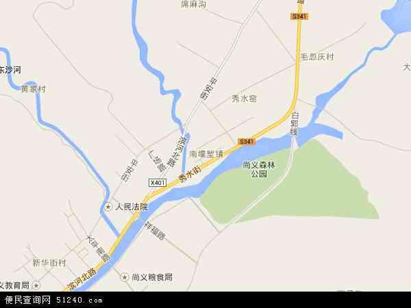 南壕堑镇地图 - 南壕堑镇电子地图