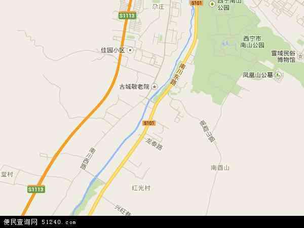 南川东路高清卫星地图 南川东路2016年卫星地图 中国青海省西宁市图片