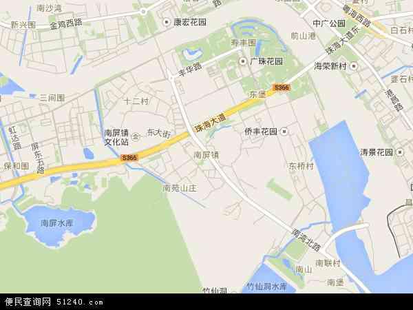 南屏镇地图 - 南屏镇电子地图