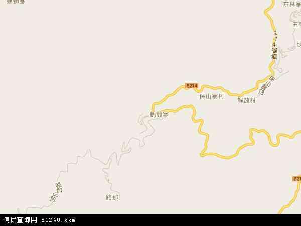 攀枝花乡地图 - 攀枝花乡电子地图 - 攀枝花乡高清地图 - 2017年