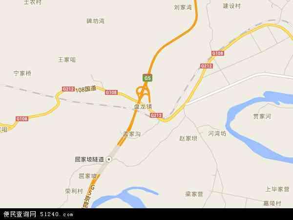 盘龙镇地图 - 盘龙镇卫星地图