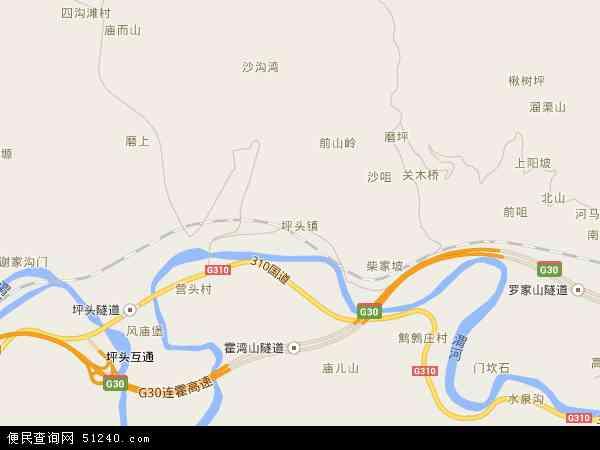 中国陕西省宝鸡市陈仓区坪头镇地图(卫星地图)