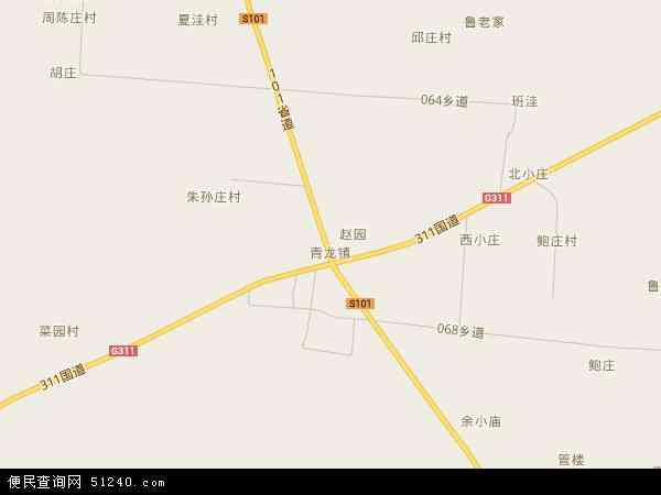 青龙集镇地形图,2016青龙集镇高清地形图