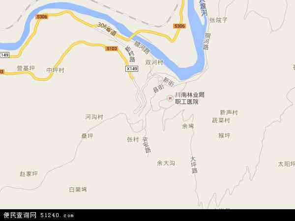 沙坪镇地图 - 沙坪镇卫星地图