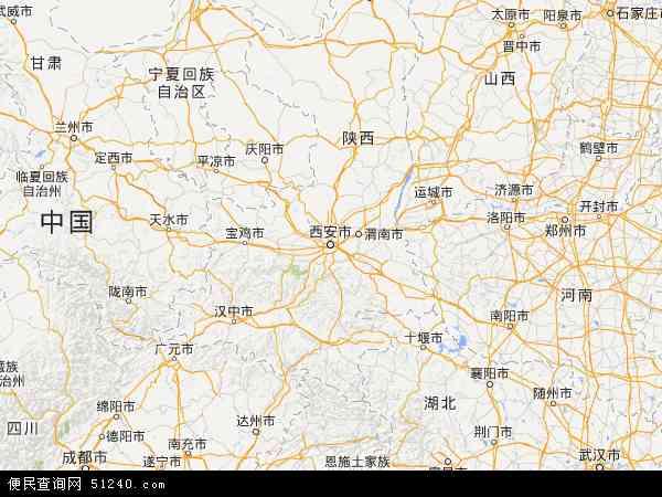 陕西省地图 - 陕西省卫星地图 - 陕西省高清航拍地图