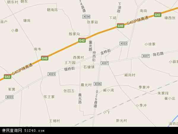中国安徽省合肥市肥东县石塘镇地图(卫星地图)