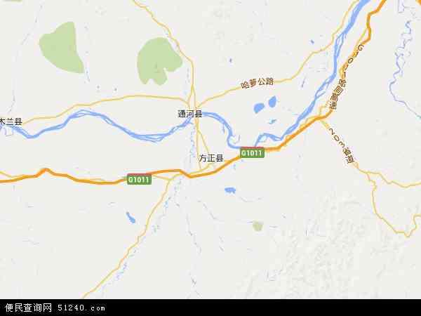 中国黑龙江省哈尔滨市方正县沙河农场地图(卫星地图)图片