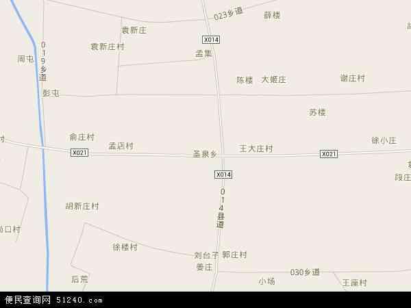 中国安徽省宿州市萧县圣泉乡地图(卫星地图)