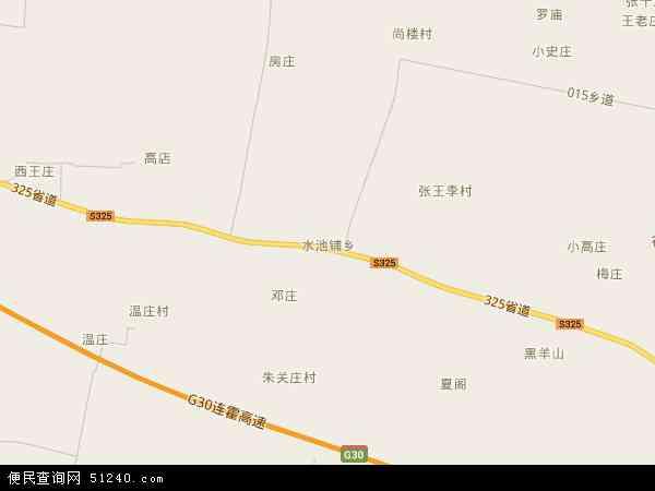 中国河南省商丘市梁园区水池铺乡地图(卫星地图)