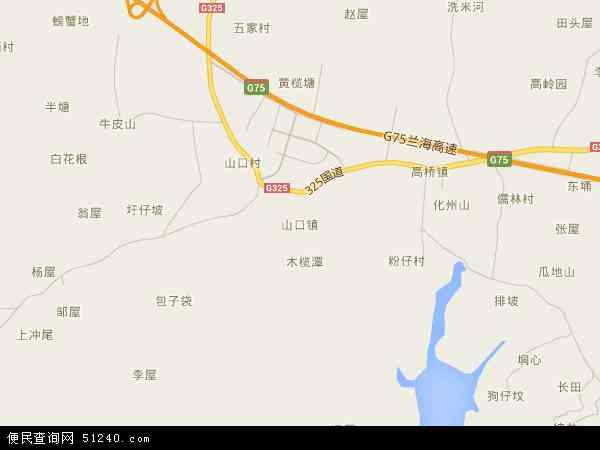 中国广西壮族自治区北海市合浦县山口镇地图(卫星地图)