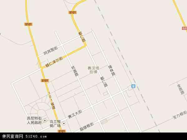 赛汉塔拉镇地图 - 赛汉塔拉镇卫星地图
