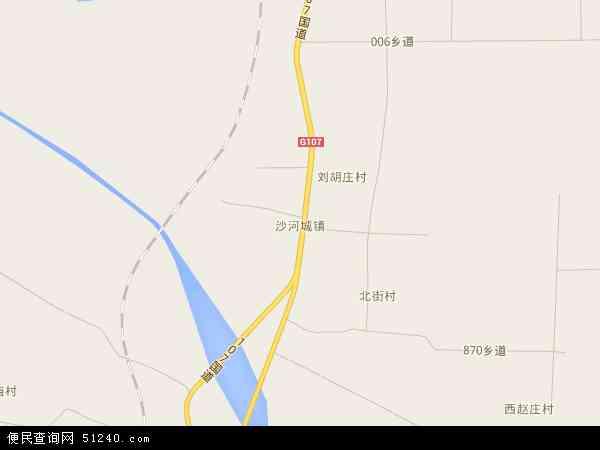 中国河北省邢台市沙河市沙河城镇地图(卫星地图)