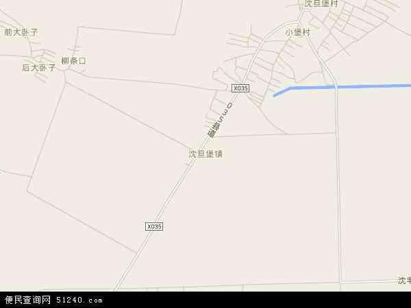 中国辽宁省辽阳市灯塔市沈旦堡镇地图(卫星地图)