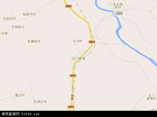 中国河北省秦皇岛市抚宁县石门寨镇地图(卫星地图)
