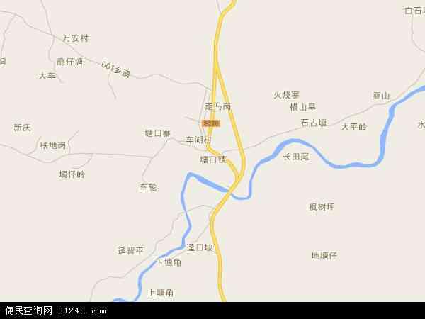 塘口镇高清卫星地图 塘口镇2017年卫星地图 中国广东省阳江市阳西