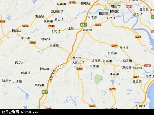 中国 广东省 揭阳市 普宁市 乌石农场  乌石农场卫星地图 本站收录有图片