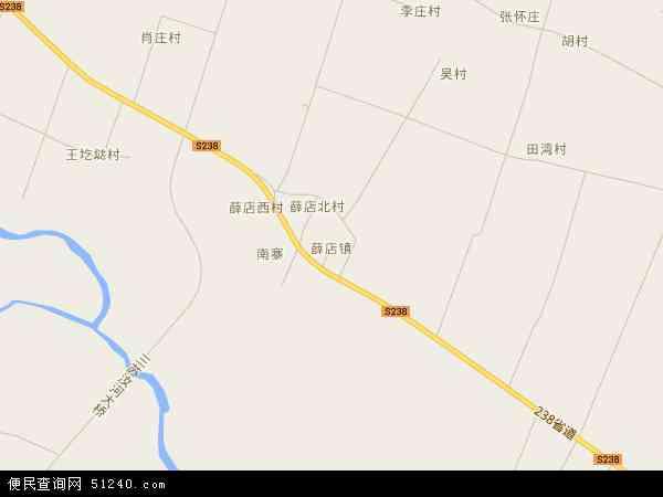 中国河南省平顶山市郏县薛店镇地图(卫星地图)