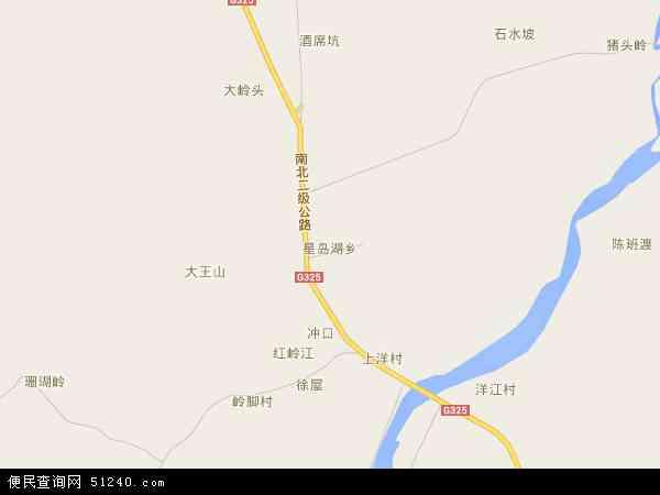中国广西壮族自治区北海市合浦县星岛湖乡地图(卫星地图)图片