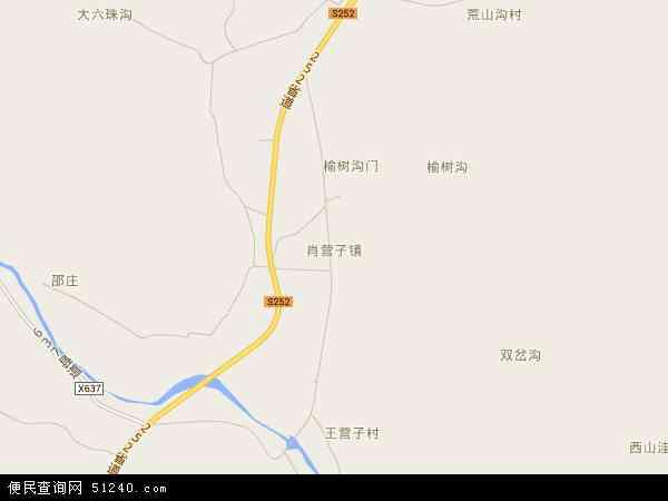 中国河北省秦皇岛市青龙满族自治县肖营子镇地图(卫星地图)