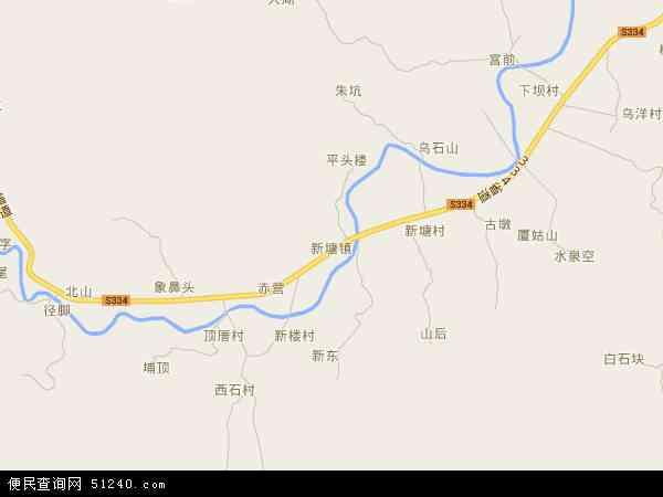 新塘镇高清卫星地图 新塘镇2016年卫星地图 中国广东省潮州市饶平