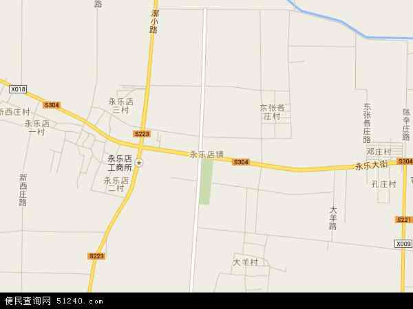 中国北京市通州区永乐店镇地图(卫星地图)
