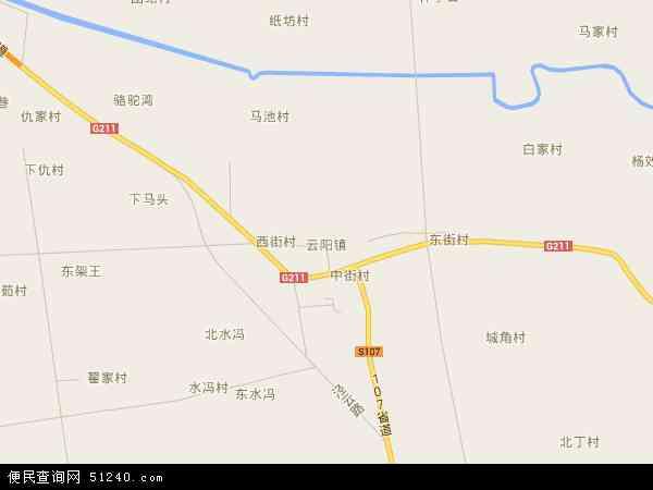 中国陕西省咸阳市泾阳县云阳镇地图(卫星地图)