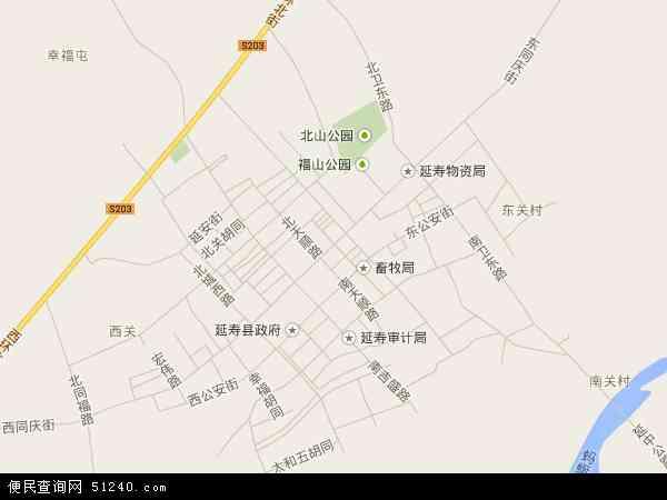 延寿镇地图 - 延寿镇卫星地图