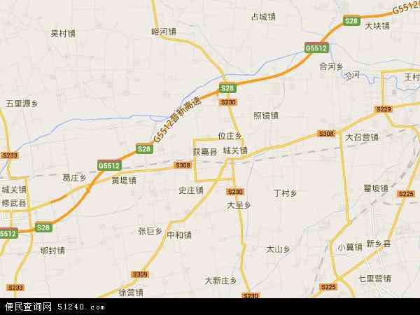 中国河南省新乡市获嘉县园艺场地图(卫星地图)