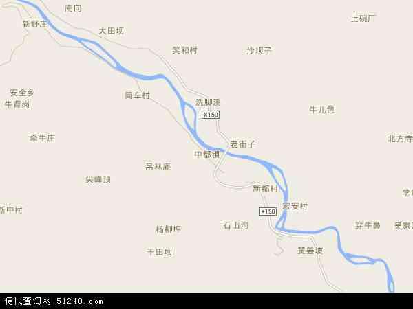 中国四川省宜宾市屏山县中都镇地图(卫星地图)