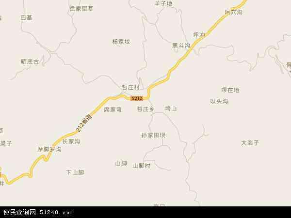 中国贵州省毕节市赫章县哲庄乡地图(卫星地图)