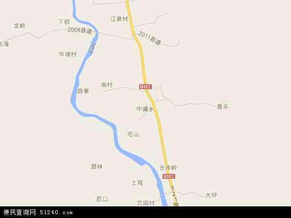 中庸乡2016年卫星地图 中国广西壮族自治区桂林市临桂区中庸乡地图