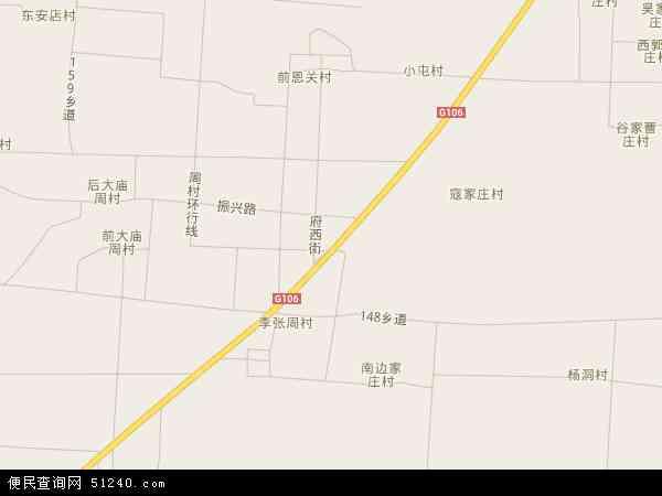 中国河北省衡水市冀州市周村镇地图(卫星地图)