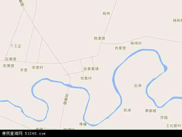 中国湖北省襄阳市襄州区张家集镇地图(卫星地图)