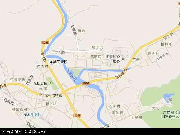 樟木头镇地图 - 樟木头镇电子地图 - 樟木头镇高清地图 - 2017年
