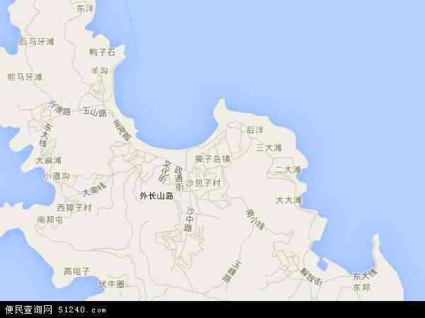 獐子岛镇地图 - 獐子岛镇卫星地图