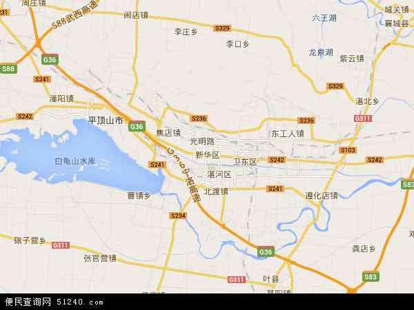 卫星地图 滨湖管委会2014年卫星地图 中国河南省平顶山市新高清图片