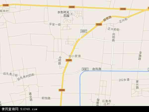 中国北京市顺义区北小营镇地图(卫星地图)图片