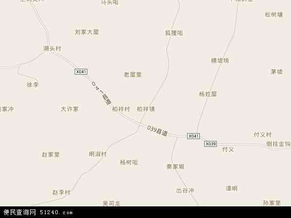 中国湖南省岳阳市岳阳县柏祥镇地图(卫星地图)