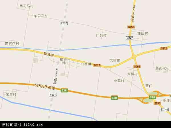 中国河南省焦作市沁阳市柏香镇地图(卫星地图)