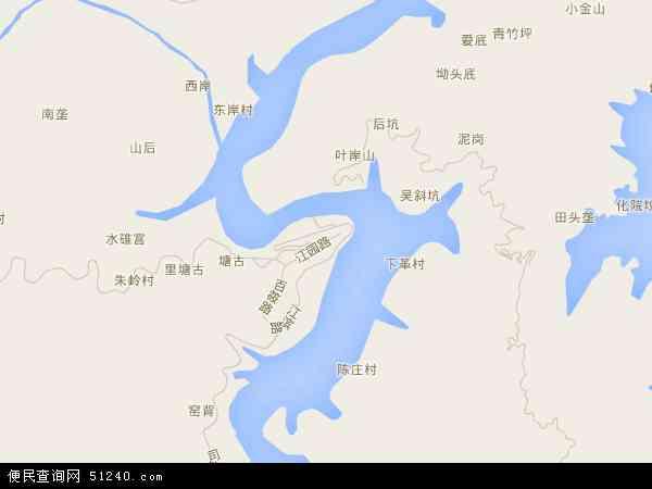 中国浙江省温州市泰顺县百丈镇地图(卫星地图)