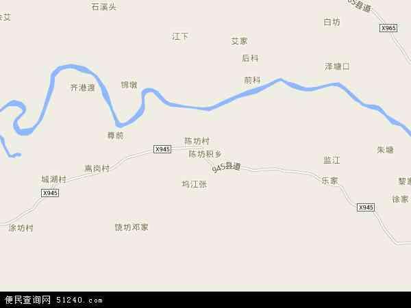 中国江西省抚州市金溪县陈坊积乡地图(卫星地图)