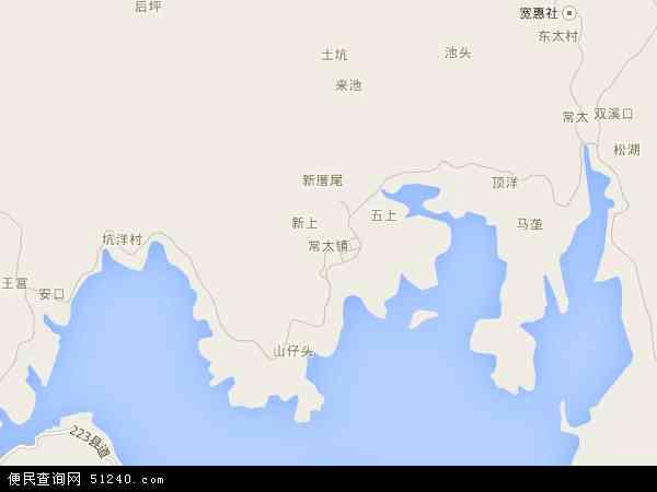 中国福建省莆田市城厢区常太镇地图(卫星地图)