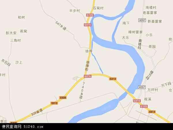 中国江西省南昌市安义县东阳镇地图(卫星地图)图片