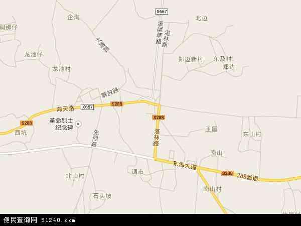 中国广东省湛江市麻章区东山镇地图(卫星地图)