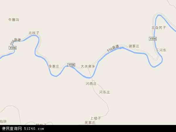 大水泉乡地图 - 大水泉乡卫星地图