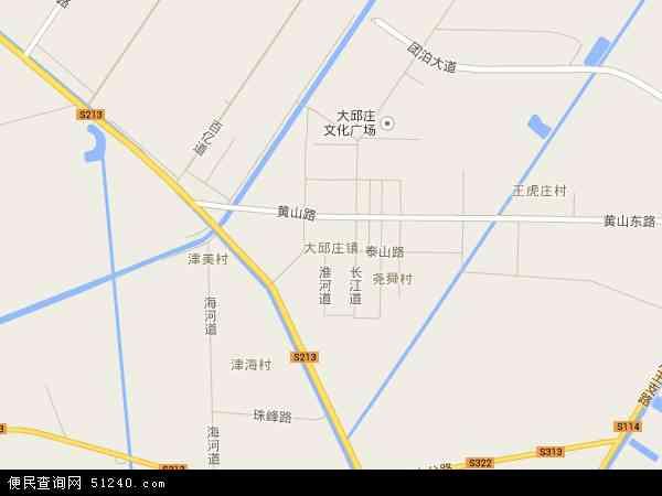 中国天津市静海县大邱庄镇地图(卫星地图)