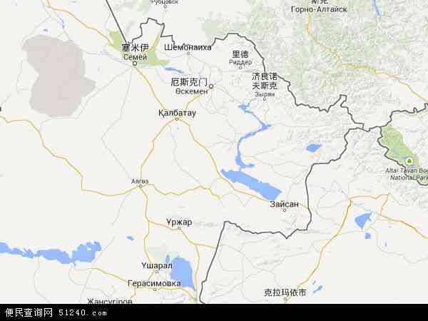 东哈萨克斯坦电子地图