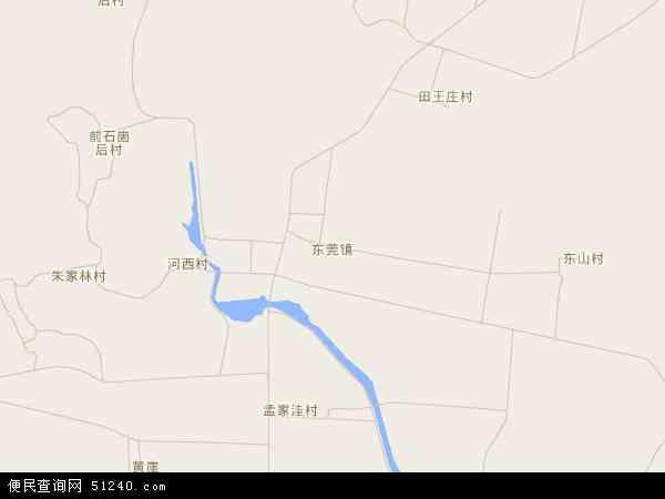 东莞镇高清地图 - 2014年东莞镇地图