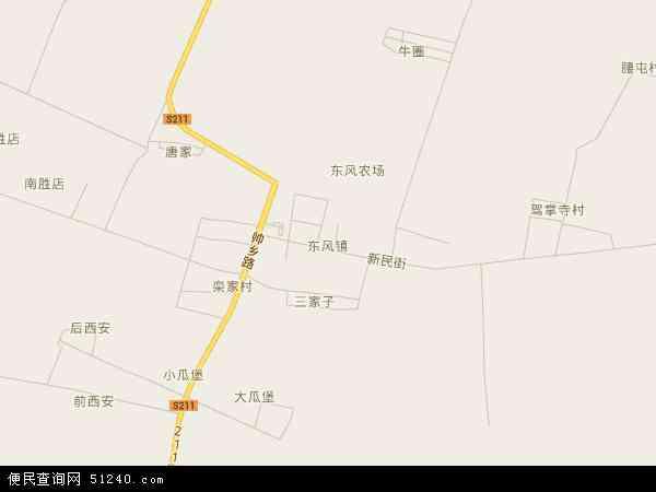 盘锦大洼县地图_东风镇地图 - 东风镇卫星地图 - 东风镇高清航拍地图